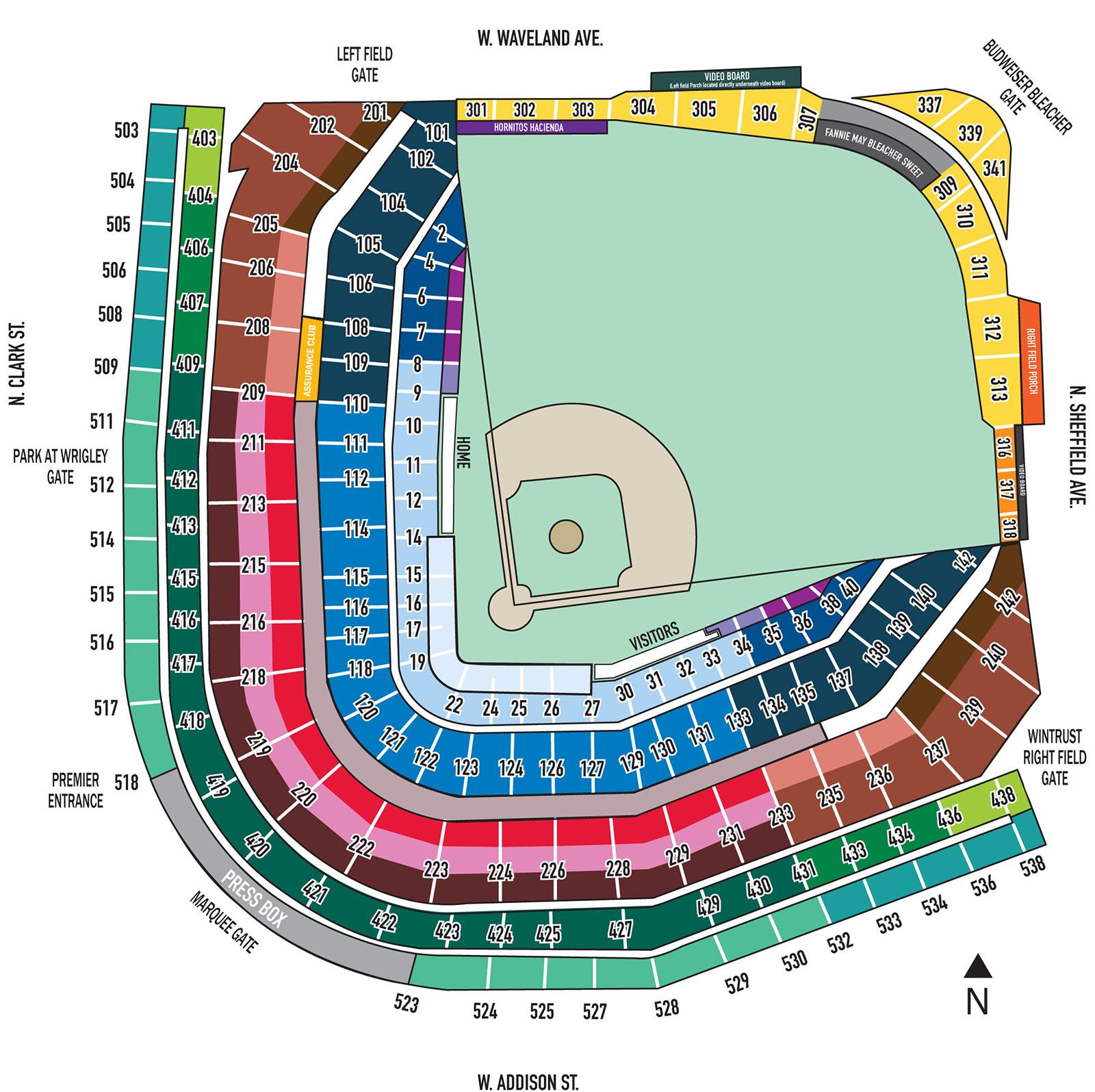 Chicago Subway Map Wrigley Field.Wrigley Field Mlb Stadium Guide